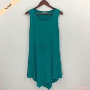 [Made by Johnny] Green Asymmetrical Tunic Top